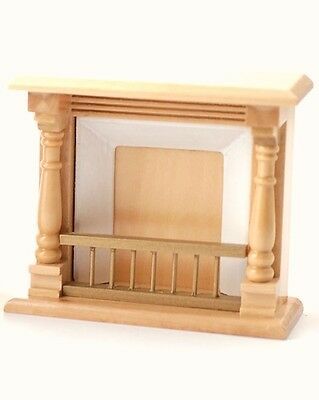 Pine Wooden Fireplace, Miniature Dolls House Accessory. 1:12 Scale, Fire Hearth