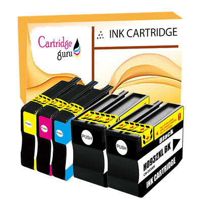 5 Compatible Ink For HP 932XL 933XL Officejet Printer 6100 6600 6700