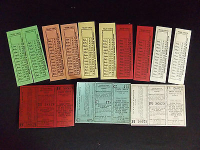 Lot Unused Vintage B&o Baltimore & Ohio Railroad Passenger Ticket/train Checks