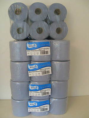 SUPER VALUE 30 rolls 5x6pack blue rolls,centre feed,paper towel,industrial roll