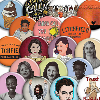 Orange is the New Black - OITNB - Button Badges / PinBacks - 25mm 1 inch
