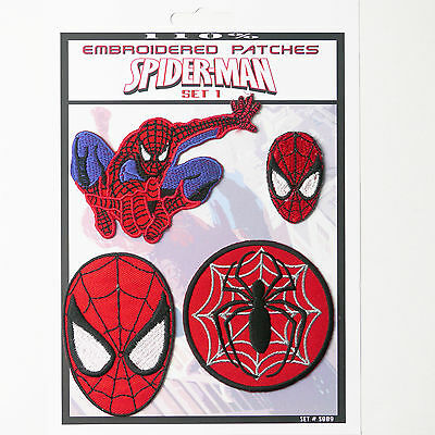 AMAZING SPIDER-MAN Marvel Patches Iron-On Patch Super Set #009 FREE POSTAGE