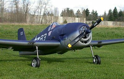"1/4 Scale WWII F6F Hellcat 96"" WS scratch build R/c Plane Plans & Patterns"