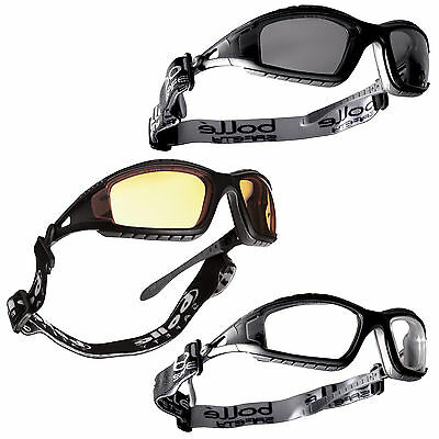 Bolle Tracker II Airsoft Shooting Safety Goggles Glasses - Clear Smoked & Yellow