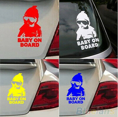 BABY IN CAR sticker newborn baby boy girl gift car window baby on board sticker