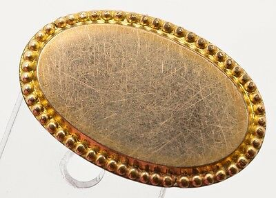 """Antique Victorian Gold Filled Engravable Top Brooch Pin Small Oval 1"""""""