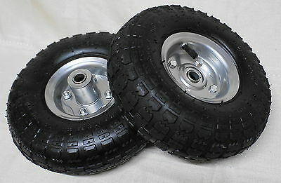2 x TROLLEY WHEELS 4.10/3.50-4 Pneumatic 16mm Bearing