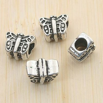 8pcs antiqued silver butterfly design spacer bead G903