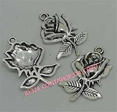 30pc Tibetan Silver snake Charm Beads Pendant accessories wholesale P1197B