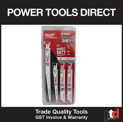 New Milwaukee Sawzall 8 Piece Blade Set - For All Applications