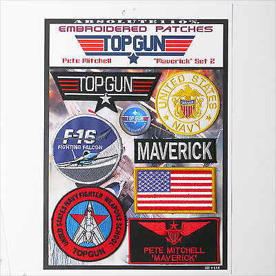 "TOP GUN ""MAVERICK"" FANCY DRESS Patches - Iron-On Patch Mega Set #014 - FREE POST"
