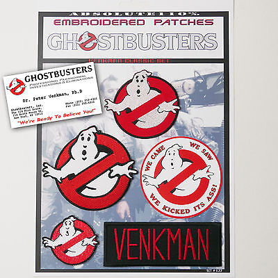 """GHOSTBUSTERS """"VENKMAN"""" Team Patches - Iron-On Patch Mega Set #022 - FREE POST"""