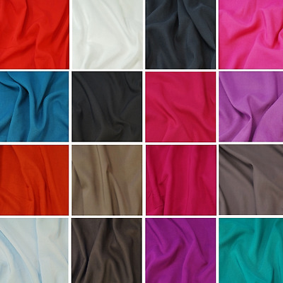 Plain Solid Coloured 100% Viscose Dress Lining Fabric 142cm Wide
