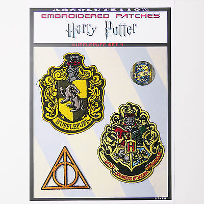"HARRY POTTER ""HUFFLEPUFF"" House Patches - Iron-On Patch Mega Set #51 - FREE POST"