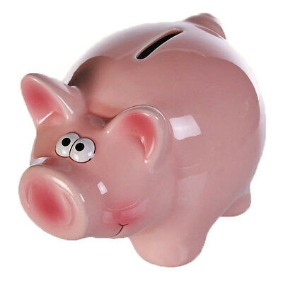Piggy Bank Coins Money Box Safe Savings Cash Gift Novelty Ceramic Kids Pig New
