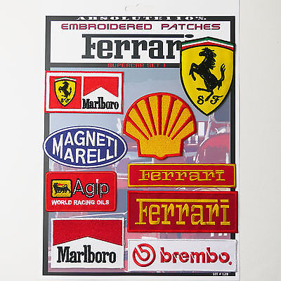 FERRARI FORMULA ONE F1 RACE Patches - Iron-On Patch Mega Set #28 - FREE POST