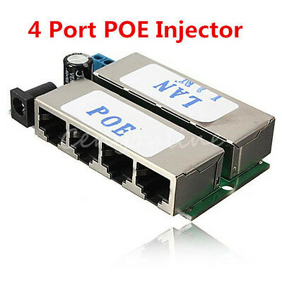 POE injector 4 Ports POE Power Over Ethernet Passive Module for CCTV POE Devices