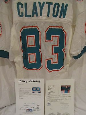 Mark Clayton Miami Dolphins Game Used Road Jersey (1980's)-Heritage/JSA/PSA Cert