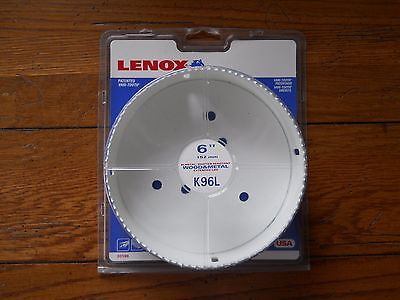 "New Factory Sealed Lenox 30196  6"" Bi-Metal Hole Saw Wood/Metal"