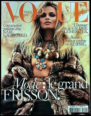 VOGUE Paris 09/2015 NATASHA POLY Edie Campbell LILY ALDRIDGE Kati Nescher @NEW@