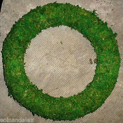 Holly Wreath Mossed Base. Frame, Christmas Xmas, With internal Wire Frame