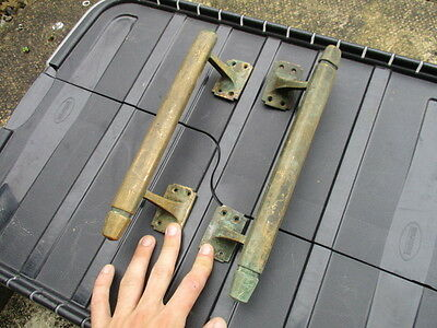 Vintage Brass Door Handles Pulls Public Building Pub Salvage Art Deco Antique