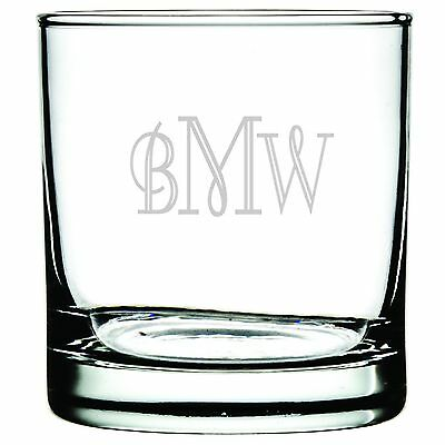 Engraved Customized Personalized Rocks Old Fashion Whiskey Highball Glass