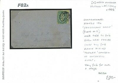 F82a 1863 CSA Confederate States American Civil War Cover/Scott #11