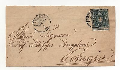 ITALIAN STATES TUSCANY Scott #20, 1860 Cover - FRONT ONLY