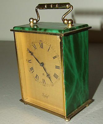Vintage Working 1966 IMHOF Brass Victorian Carriage Clock Swiss Desk Clock