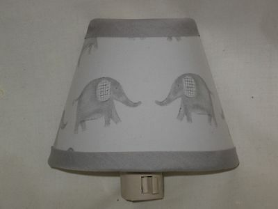 Taylor Elephant Fabric Nursery Nightlight M2M Pottery Barn Kid Bedding