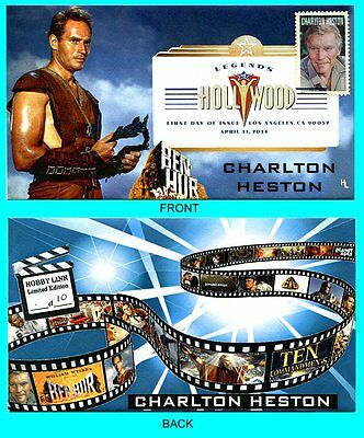 Charlton Heston Ben Hur First Day Cover with Color Cancel