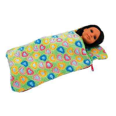 """18"""" Doll GREEN SLEEPING BAG Fits American Girl, Clothes, Clothing & Accessories"""