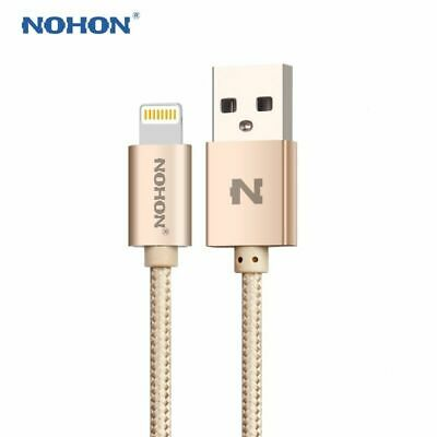 NOHON LED USB Cable For iPhone 6S 7 5S 5C 6 Plus iPad Data Charger Genuine Lead