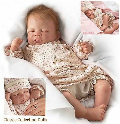 "Ashton Drake ""HUSH LITTLE BABY"" LIFELIKE ""BREATHING"" BABY DOLL-NEW-IN STOCK NOW!"