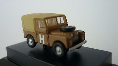 "Oxford Sand Military Land Rover 88"" Canvas Nlan188002 N Gauge Railway Model New"