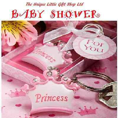 Baby shower,christening,b`day party,gift! princess tiarra/ prince crown keyrings