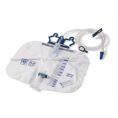 4000mL Urine Collection Drainage Bags Latex free 20 pk