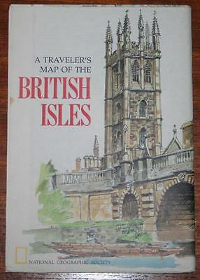 National Geographics - Traveler's Map BRITISH ISLES - April 1974 - 32 x 22 in