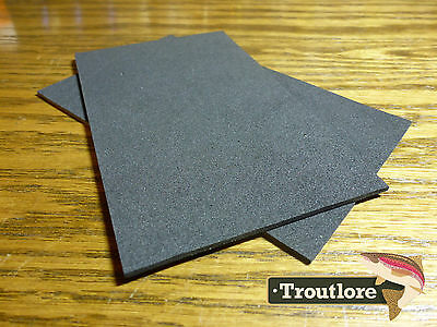 """2 x BLACK CLOSED CELL FOAM SHEETS 5"""" x 3"""" - NEW FLY TYING MATERIALS"""