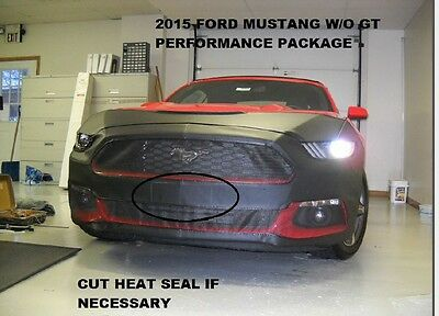 Lebra Front End Mask Cover Bra Fits 2015-2017 Mustang Without GT Performance Pk.