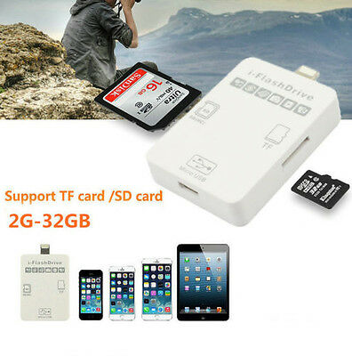 2in1 i Flash Drive Micro SD SD TF Card Reader for iPhone 5 5S 6 6S Plus iPad Pro