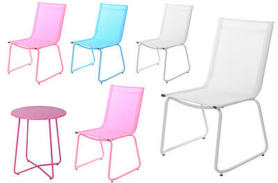 Stacking Garden Chairs Garden Table and Chairs Patio Terrace Balcony Table