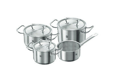 zwilling TWIN CLASSICS pot set 4 pcs. + 3 lid 40901-000 from Germany INDUCTION