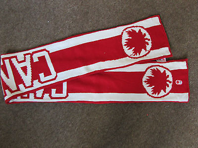 Hudson Bay Co CANADA Official OLYMPIC Red & White Scarf