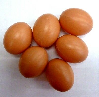 Toy Eggs Fake Chicken Artificial Fat Baby Realistic Novelty Decorative Brown Kit