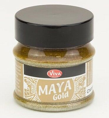 Maya-Gold Effektfarbe Dose 50 ml champagner metallic Viva-Decor 123210234