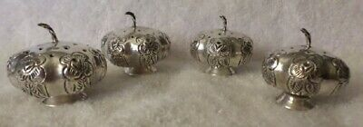 4 Sterling Silver 925 Mexico City SALTS 63.6 Grams Pumpkin Shape pre 1948 MA
