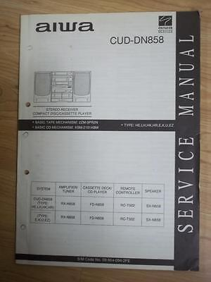 aiwa service manual for the cud dn858 cassette receiver system rh picclick com Aiwa Stereo System NSX D60 Aiwa Nsx V2100