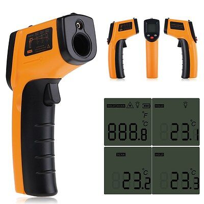 LCD Non-Contact Infrared Digital IR Laser Thermometer Probe Temperature Sensor